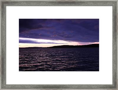 Moosehead Lake Sunset Framed Print by Ryan Hord
