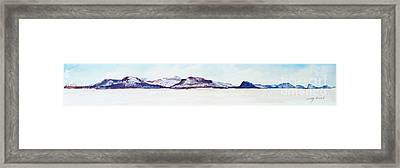 Framed Print featuring the painting Moosehead Lake View From West Side Of Northeast Carry by Joy Nichols