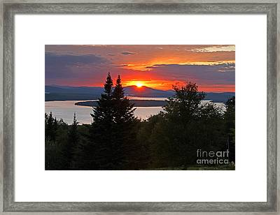 Mooselookmeguntic Sunset Framed Print by Butch Lombardi