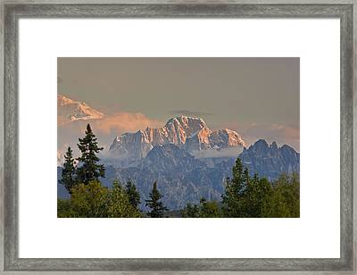 Moose's Tooth Framed Print by Kevin G Smith