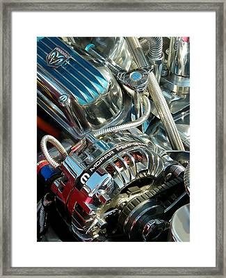Mopar In Chrome Framed Print