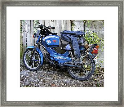 Framed Print featuring the photograph Moped Madness by Steve Sperry