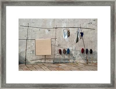 Mops And Laundry 2  Wuzhen China Framed Print