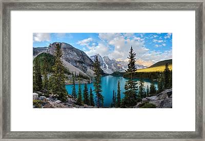 Moraine Framed Print