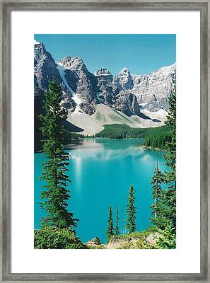 Moraine Lake 4 Framed Print by Shirley Sirois