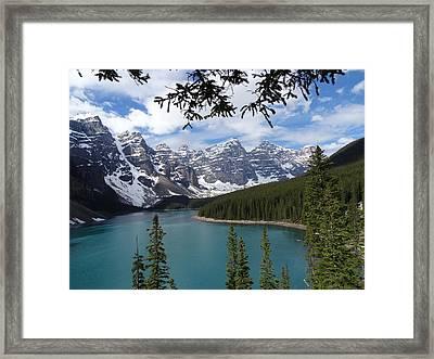 Moraine Lake Alberta Canada Framed Print