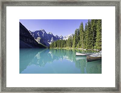 Moraine Lake And Valley Of The Ten Framed Print by Ken Gillespie
