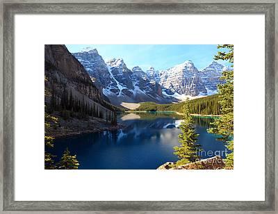 Moraine Lake Banff Alberta Framed Print