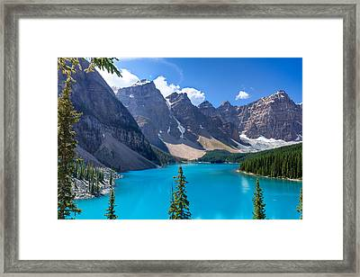 Moraine Lake - Banff National Park Framed Print