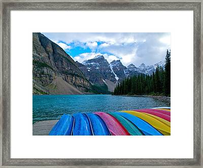 Moraine Lake Calling Framed Print