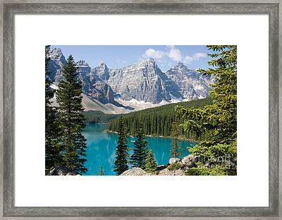 Framed Print featuring the photograph Moraine Lake by Chris Scroggins