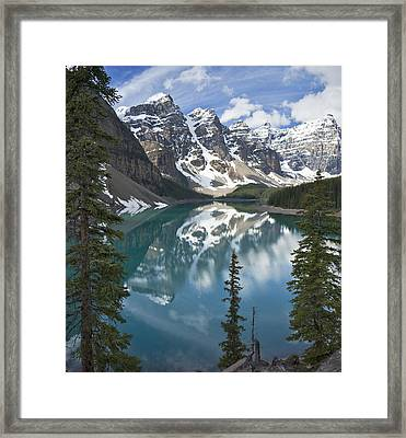 Moraine Lake Overlook Framed Print
