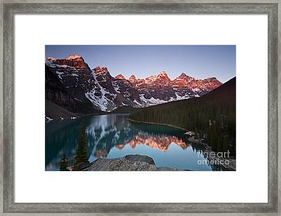 Moraine Lake Sunrise Framed Print