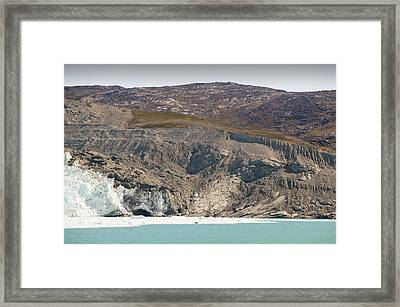 Moraine Left By Retreating Glacier Framed Print by Ashley Cooper