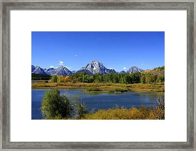 Mount Moran, Grand Teton National Park, Wyoming  Framed Print by Aidan Moran
