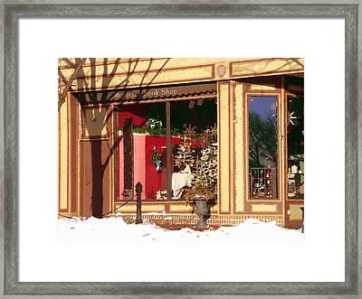Moravian Book Shop Bethlehem Pa Framed Print by Jacqueline M Lewis