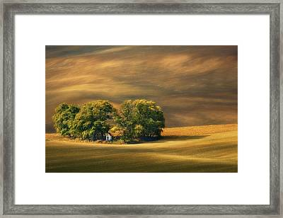 Moravian Fields... Framed Print