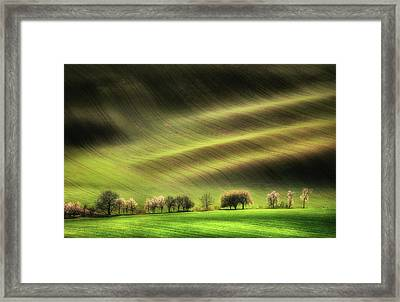 Moravian Fields Framed Print