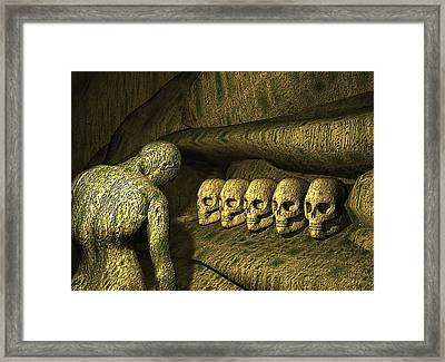 Framed Print featuring the digital art Morbid Vespers by John Alexander
