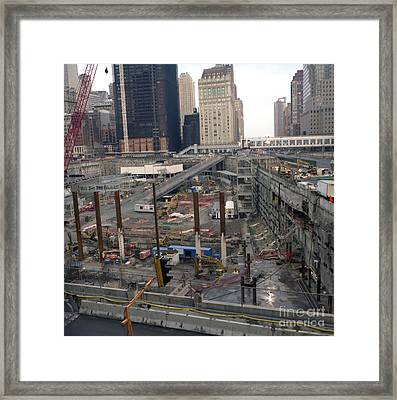 Framed Print featuring the photograph More Beams Added by Steven Spak