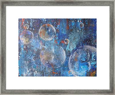 More Bubbles Framed Print by Nora Meyer