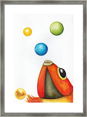 More Bubbles Framed Print