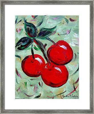 More Cherries Framed Print by Cynthia Hudson
