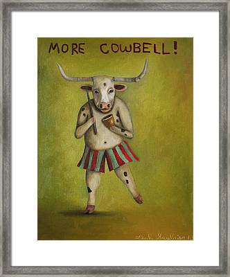More Cowbell Framed Print by Leah Saulnier The Painting Maniac