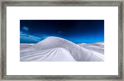 More Desert On The Horizon Framed Print