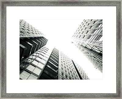 More Grids And Lines Framed Print by Lenny Carter