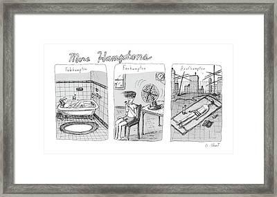 More Hamptons: Framed Print