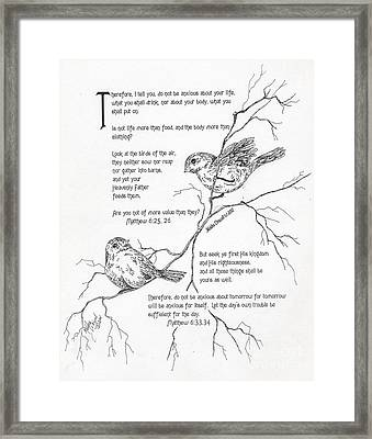More Important Than Birds Framed Print by Meldra Driscoll