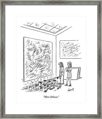 More Lithium Framed Print by Tom Cheney