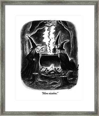 More Nicotine Framed Print by Frank Cotham
