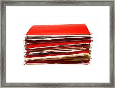 More Paperwork Framed Print by Olivier Le Queinec