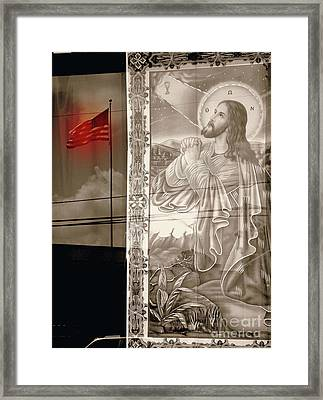 More Prayers For The Nation Framed Print by Joe Jake Pratt