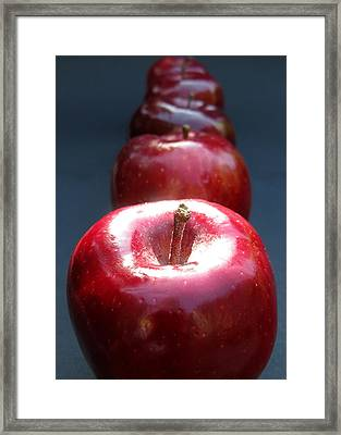 Framed Print featuring the photograph More Red Apples by Helene U Taylor