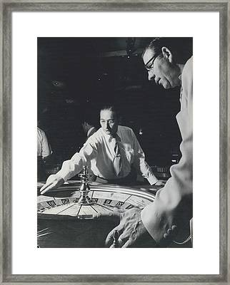 More Roulette Whereas Spin In Las Vegas Than In Monte Carlo Framed Print by Retro Images Archive
