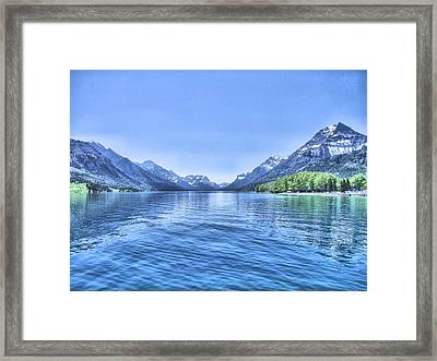 More Shades Of Blue Framed Print