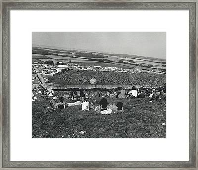 More Than 100,000 Fans Attend The Isle Of Wight Pop Framed Print by Retro Images Archive