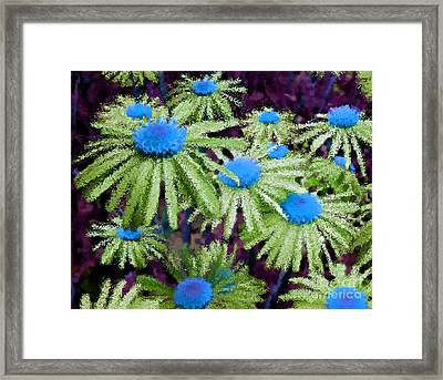 More Than Miles Purple Green Blue Framed Print
