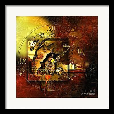 Energy Mixed Media Framed Prints