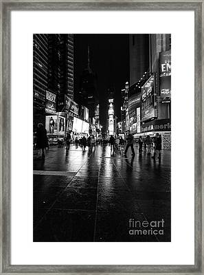 More Times Square Mono Framed Print by John Farnan