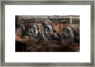 Framed Print featuring the photograph More Wagons East by Gunter Nezhoda