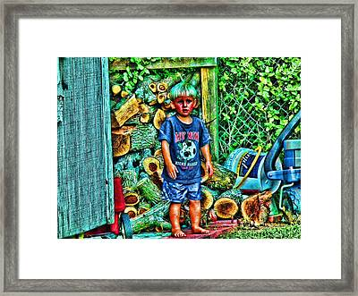 More Wood Papa...awww Framed Print