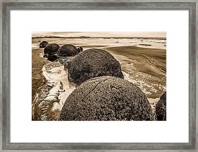 Moreaki Boulders #4 Framed Print by Judith Barath