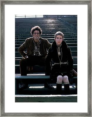 Moreen Mcgill And Elliot Gould Framed Print