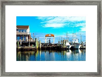Morehead City Dock Framed Print