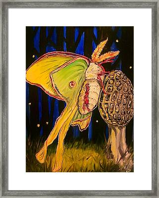 Morel And Luna Framed Print by Alexandria Weaselwise Busen