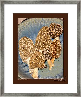 Morels In An Aerni Bowl Framed Print by Patricia Overmoyer